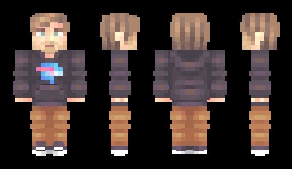 CaptInc Minecraft Skin X Steve - Skins fur minecraft alphastein