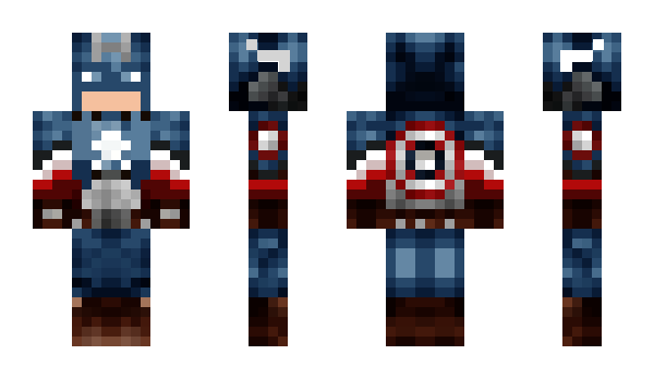 Minecraft скин по нику CaptainAmerica02